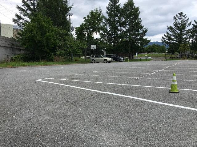 佐久市市民交流センター駐車場の様子2