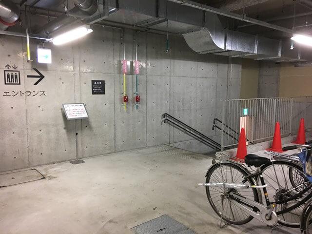 シリウス地下駐輪場の様子